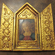 Vintage Florentine Triptych Religious Art