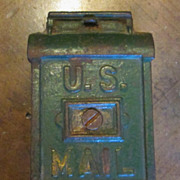 Vintage Cast Iron U.S. Mail Box Bank, Circa 1900
