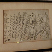 Playbill or Broadside from the Theatre Royal, Drury Lane