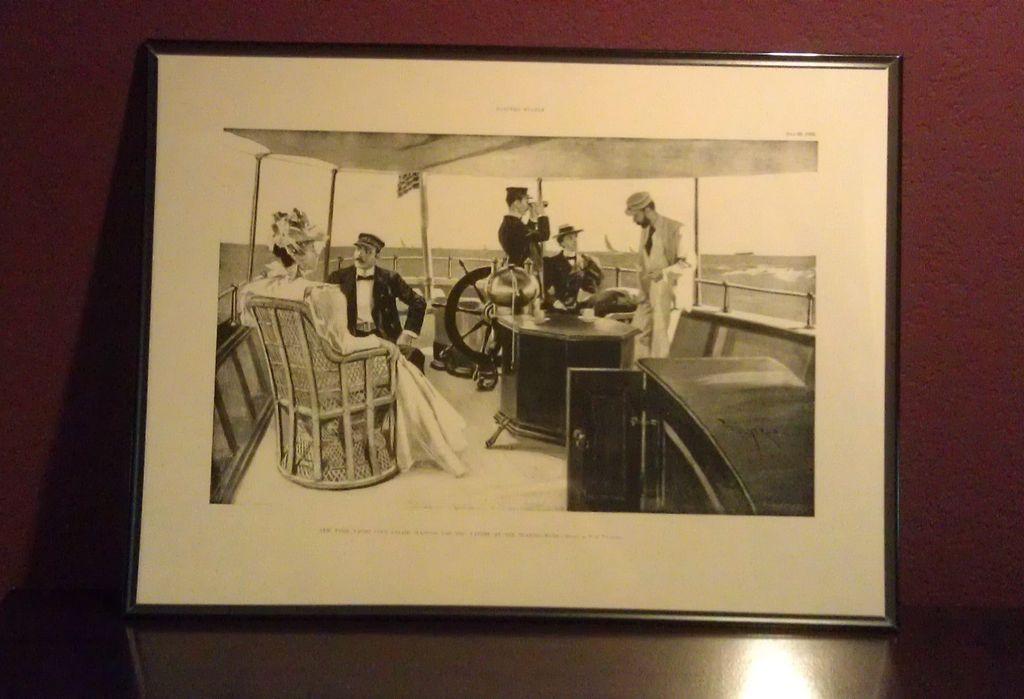 """T. de Thulstrup Litho print of Original Circa 1902 New York Yacht Club ..."