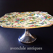 Royal Winton Chintz Cake Stand Tazza Queen Anne Pattern