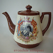 Antique Edward VII and Queen Alexandra Coronation Teapot