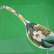 George Jones Majolica Albino Strawberry Spoon, scarce
