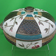Antique Wedgwood Majolica Covered Tureen, Japanese Aesthetic