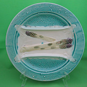 Luneville French Majolica Napkin Asparagus Plate