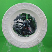 SALE ABC Early Victorian Transfer Childs Plate, Catch It Carlo