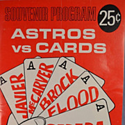 Astros vs. Cards 1967 Souvenir Program