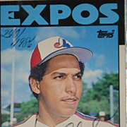 Andres Galarraga Autographed Baseball Card