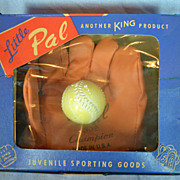 """Little Pal"" Baseball Glove and Ball"