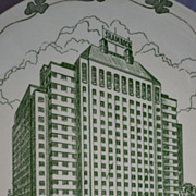 Shamrock Hotel Commemorative Plate