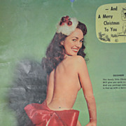 Pin-Up Girl Advertising Calendar 1958