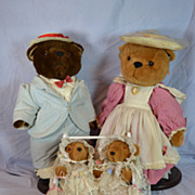 REDUCED Danbury Mint Papa,Mama, and Twin Baby Bears