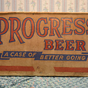 SOLD Progress Beer Corrugated Box for Bottles