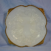 Anchor Hocking Milk Glass Footed Bowl