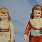 Lefton Hand Painted Boy and Girl Figurines