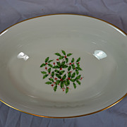 Lenox Bone China Serving Bowl-Holly Pattern