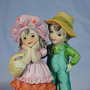 Lefton Boy and Girl Figurine