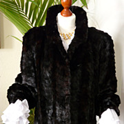 Stunning Vintage Mink Jacket, Slim Cut, Dark Brown/Rich Red Highlights