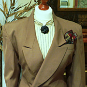 Glamorous 50s Inspired Mondi Skirt Suit, Wool Blend, Caramel, Sz 38