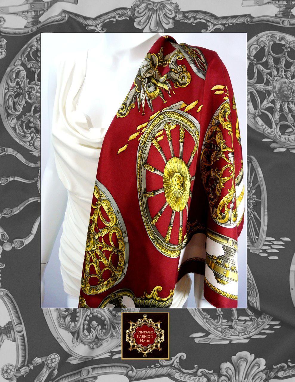 authentic vintage hermes silk scarf carre canon Authentic Vintage Hermes Scarves