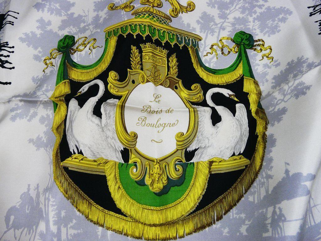 authentic vintage hermes scarf le bois de boulogne Authentic Vintage Hermes Scarves
