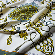Authentic Vintage Hermes Silk Scarf Les Clefs 1965 - A Must Have