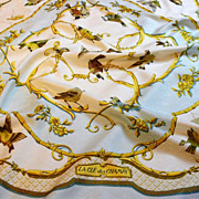 Authentic Vintage Hermes Silk Scarf La Cl� Des Champs by Fran�oise Faconnet - RARE