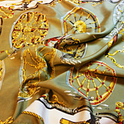 Authentic Vintage Hermes Silk Scarf Roues De Canon - Great Value
