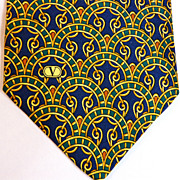 Authentic Valentino Silk Necktie Excellent Vintage Condition