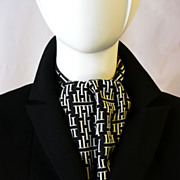 Authentic Vintage Herm�s Silk Ascot - Unisex - Good Condition