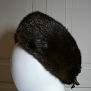 Vintage Ladies Mink Fur Hat in Good Condition - 40s Era