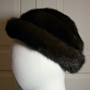 Vintage Ladies Mink Fur Hat in Excellent Condition