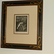 """Manet """"Chat aux Fleurs"""" 1869 Signed and Certified Etching"""