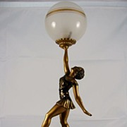 SOLD French Art Deco Lamp, signed by L. Bruns, c. 1920