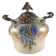 SALE French Antique Biscuit Barrel, Art Nouveau, c. 1860-1880