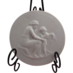 Sevres Bisque Porcelain Medallion of Cupid and Venus