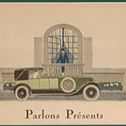 SALE French Art Deco Print - &quot;Parlons Presents&quot; by James de Coquet, 1920's