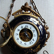 SOLD Rare Antique French Porcelain Baker's Clock, 1850-1880