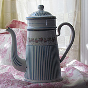 "SOLD Famous ""Guirlande de Rose"" Coffee Pot by BB Freres"