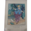 REDUCED Pochoir Print, Gazette de Bon Ton, 1913, Shepherdess  by P. Brissaud