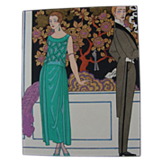 REDUCED Georges Barbier Art Deco Pochoir Print, La Gazette de Bon Ton, 1921