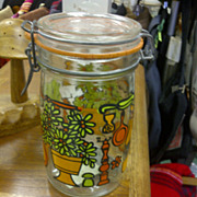 Retro 70s Canning/Storage Jar 'Hermetique'