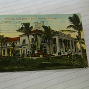 Florida White Hall South and East fronts Palm Beach circulated postcard
