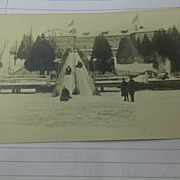 Winter Sports sledding postcard 1912 circulated postcard