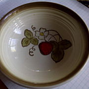 Metlox Poppytrail dessert bowl in the Strawberry pattern