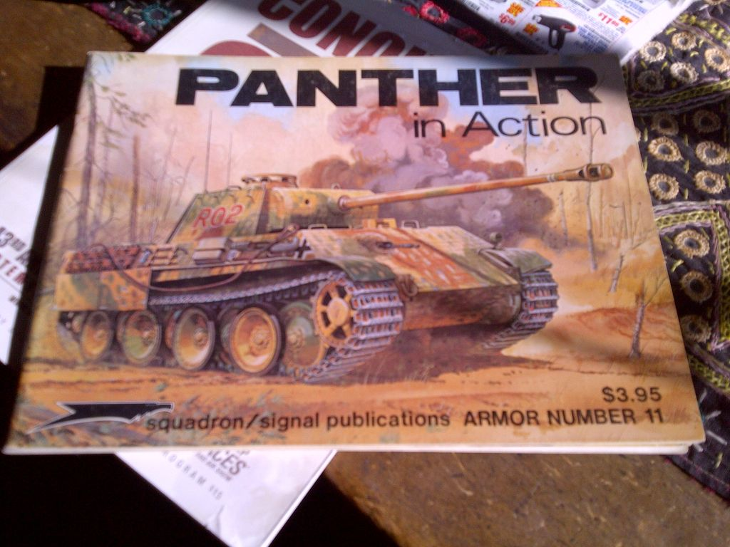 Panther in Action Squadron Publication Armor 11 SC Bruce Culver 1975 tanks