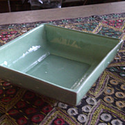 Mid century modern planter aqua green Maria of California MCM