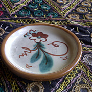 Nittsjo Sweden Swedish small dish coaster etc flower