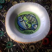 Pisces ashtray vintage 1960's china