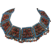 Antique Tibetan or Nepalese Jeweled Copper Necklace